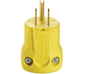 3-Wire Male Plug - 15A - Yellow / AH5965Y *ARROWHART