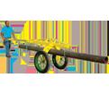 Pipe Dolly - 2,000 lbs - Steel / 780351 *GRASSHOPPER