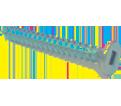 Flat Head #12 Robertson Wood Screws / Zinc (PKG)