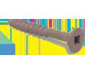 Flat 4 Lug Head #8 Robertson Decking Screws / Brown Magnigard® (JUG)