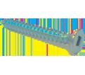 Flat Head #7 Robertson Wood Screws / Zinc (PKG)