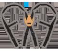 Suspenders - Black - Padded Nylon Web / SP90