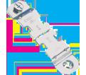 "Conduit Strut Clamp - 1.16"" – 1.32"" - Steel / SK165I *ELECTROGALVANIZED"