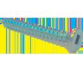 Flat Head #4 Robertson Wood Screws / Zinc (PKG)