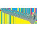 Flat Head #8 Robertson Wood Screws / Zinc (PKG)