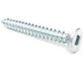 Flat Head #10 Robertson Wood Screws / Zinc (PKG)