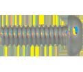 Round Head 1/4-20 Robertson Machine Self-Drilling Screw / RUSPRO® COATED