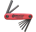 Hex Key Set - Fold Up - Hex End - SAE - 5 pc / 12585 *GORILLAGRIP