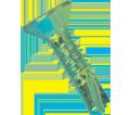 Flat Countersink Head 8-18 Robertson Self-Drilling TEK Screws / Zinc Plated (Bulk)