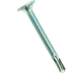 Wafer Head w/o Reamer 12-24 Robertson Self-Drilling TEK Screws / Zinc Plated (Bulk)