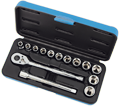 "Chrome Socket Set - 3/8"" - 6 Point / 600226 *15 Pc"