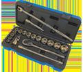"Chrome Socket Set - 1/2"" - 6 Point / 600323 *20 Pc"