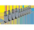 """Chrome Socket Set - 1/4"""" & 3/8"""" - Tamperproof TORX® / 601801 *10 Pc"""