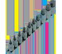"Chrome Socket Set - 3/8"" & 1/2"" - Hex Bit / 601803 *10 Pc"