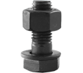 "Structural Bolt 1"" UNC - w/A563 DH Nut / Plain A325"