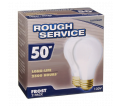 Lightbulbs - 50 W - Frosted / 73210 *ROUGH SERVICE (2 PK)