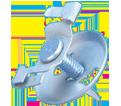 """Twist Clip w/ Wing Nut - 15/16"""" - Spring Steel / 4G16 *CADDY®ARMOUR"""