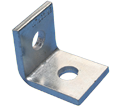 """1-1 Hole Angle Bracket - 2"""" - Steel / L110000EG *ELECTROGALVANIZED"""