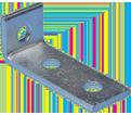 """1-2 Hole Corner Angle Bracket - 3 1/2"""" - Steel / L180000EG *ELECTROGALVANIZED"""