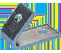 1-1 Hole Closed Corner Angle Bracket - 45° - Steel / L470450EG *ELECTROGALVANIZED