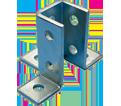 "3-Way 9 Hole Corner Connector - 3 1/2"" - Steel / W200000EG *ELECTROGALVANIZED"