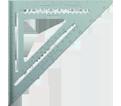"""Aluminum Rafter Squares - 12"""""""