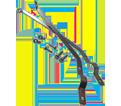 Broom Brace - Rod Style - Metal / 350